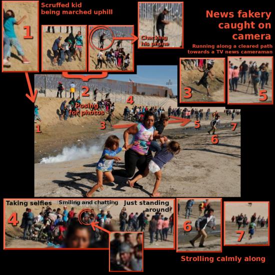 Fake Photo Op Honduran Migrants At US Mexico Border