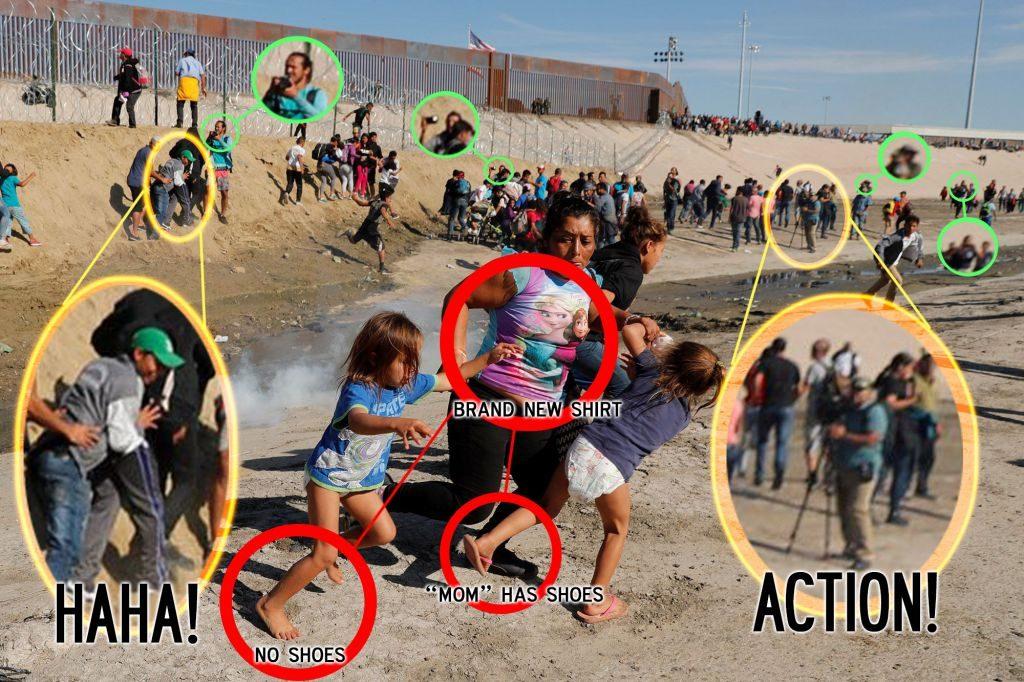 Fake Photo Op Honduran Migrants At US Mexico Border 2