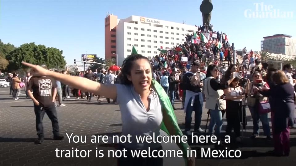 mexican protest honduran migrant caravan