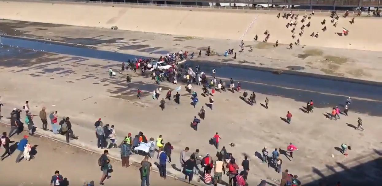 Migrants Rush California Border