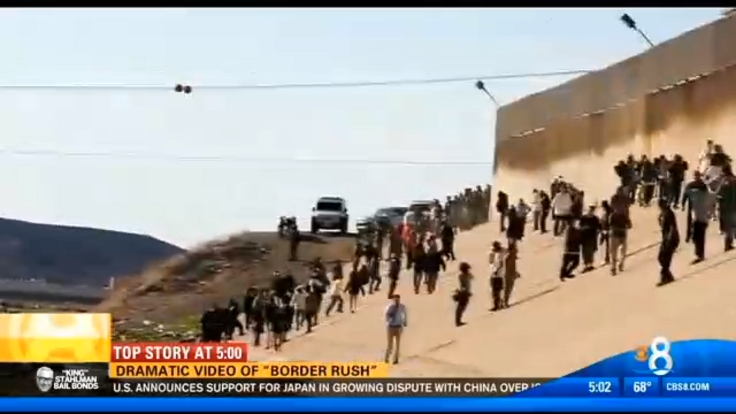 US Border Rush Mexican Citizens 2013