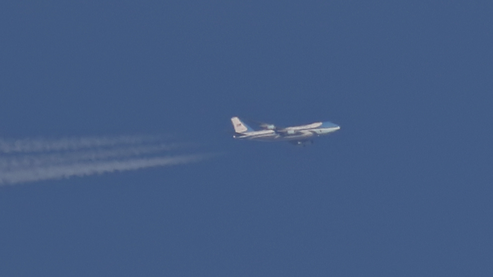 Air Force One Seen Flying Over UK Despite Government Shutdown