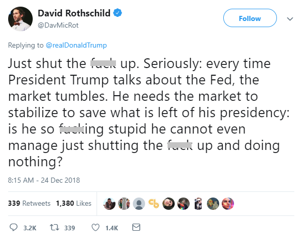 David Rothschild Donald Trump Federal Reserve