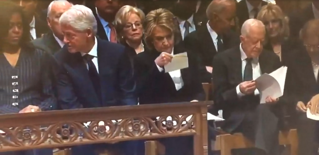 Hillary Clinton Envelope George H W Bush Funeral