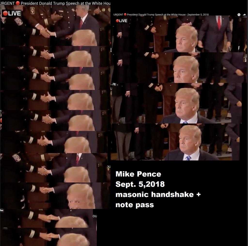 Mike Pence Masonic Handshake And Note Pass