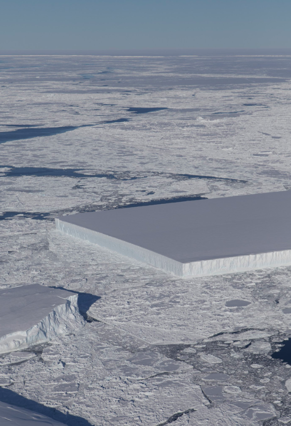 NASA Rectangle Shaped Iceberg
