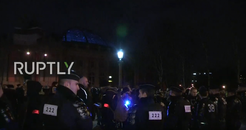 Police Protest In France Yellow Vests