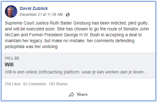 SCOTUS Justice Ruth Bader Ginsburg Secretly Indicted