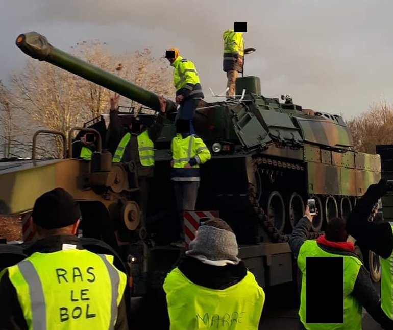 Yellow Vests French Army Tank