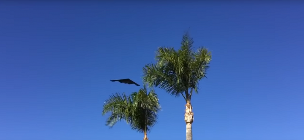 B-2 Spirit Stealth Bomber Flyover Rose Bowl