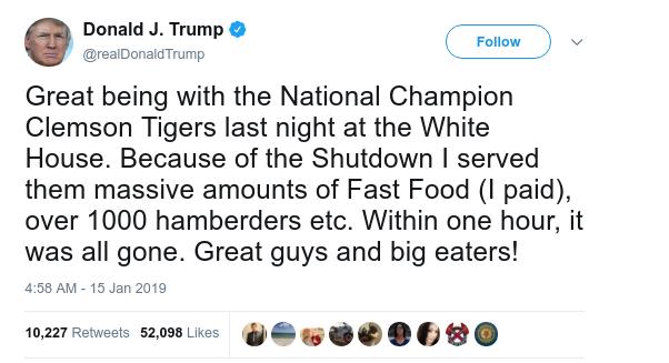 Donald Trump Hamberders