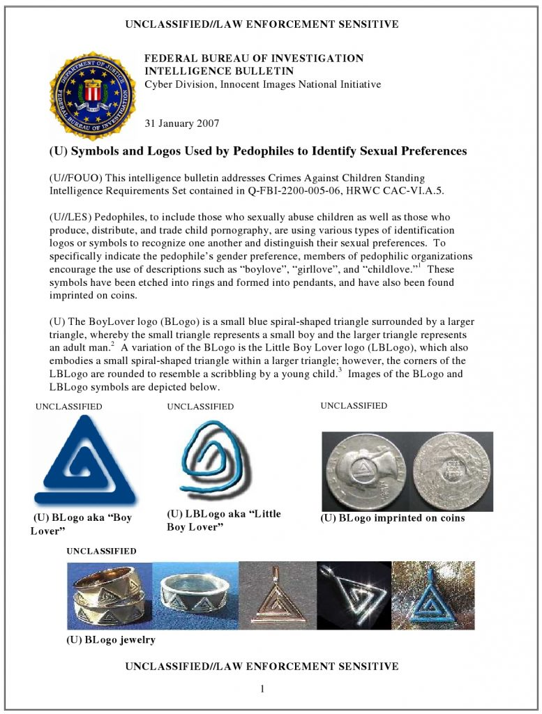 FBI Pedo Symbols