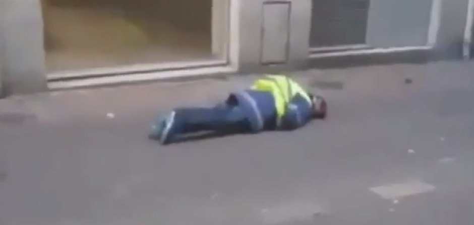French Police Shoot Yellow Vest Protester In The Head Rubber Bullet