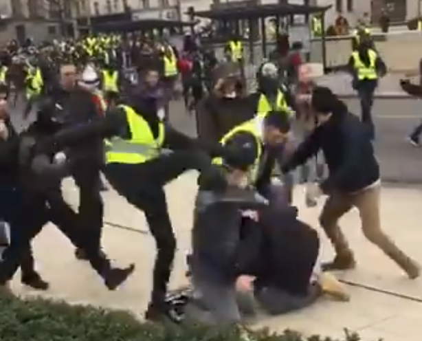 Gilets Jaunes Protesters Attack LCI Journalists