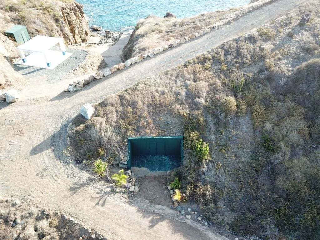 Jeffrey Epstein Little Saint James Island Underground Tunnel Entrance