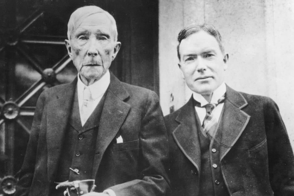 John Davison Rockefeller Sr And Jr