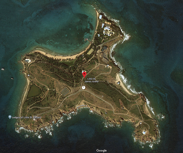 Little St James Island Google Maps