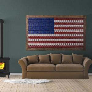 Lucky Shot 12 Gauge American Flag Wall Art