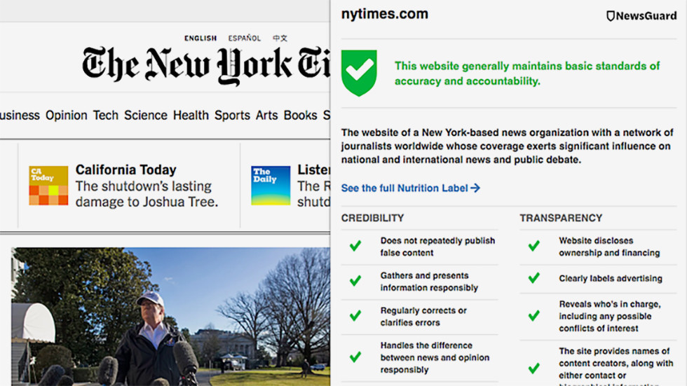 NewsGuard New York Times