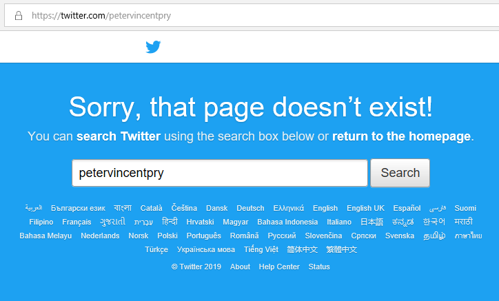 Peter Vincent Pry Twitter Deleted