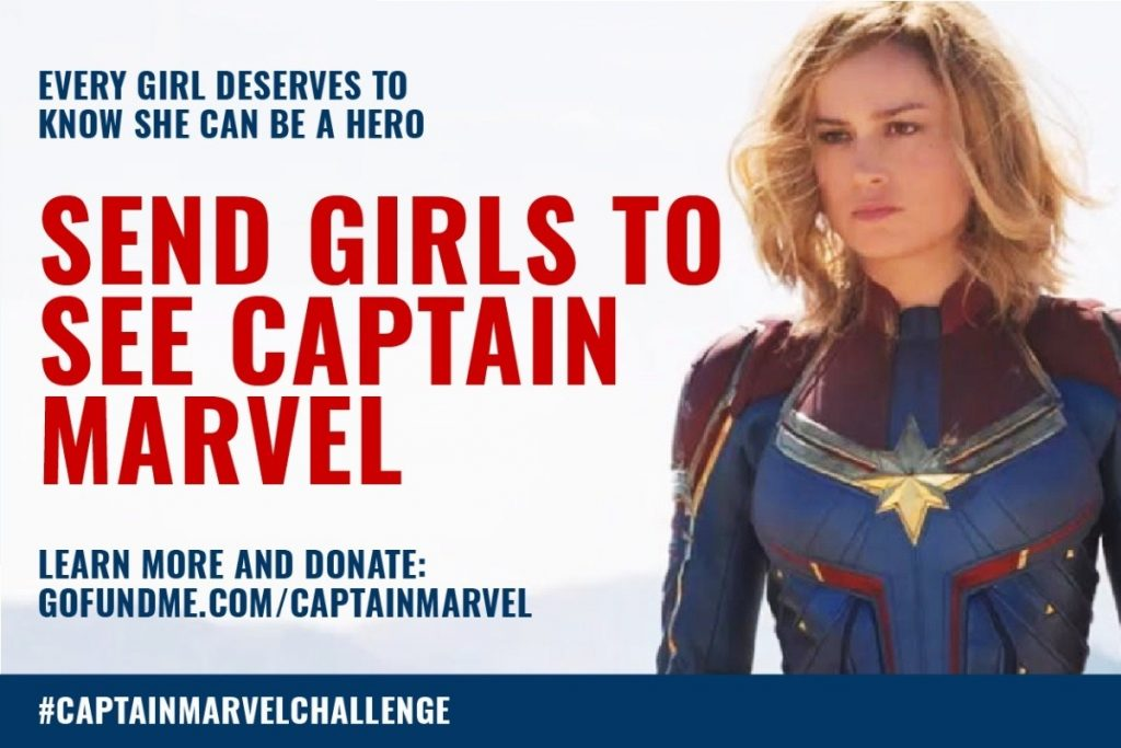 Send Girls To See Captain Marvel GoFundMe