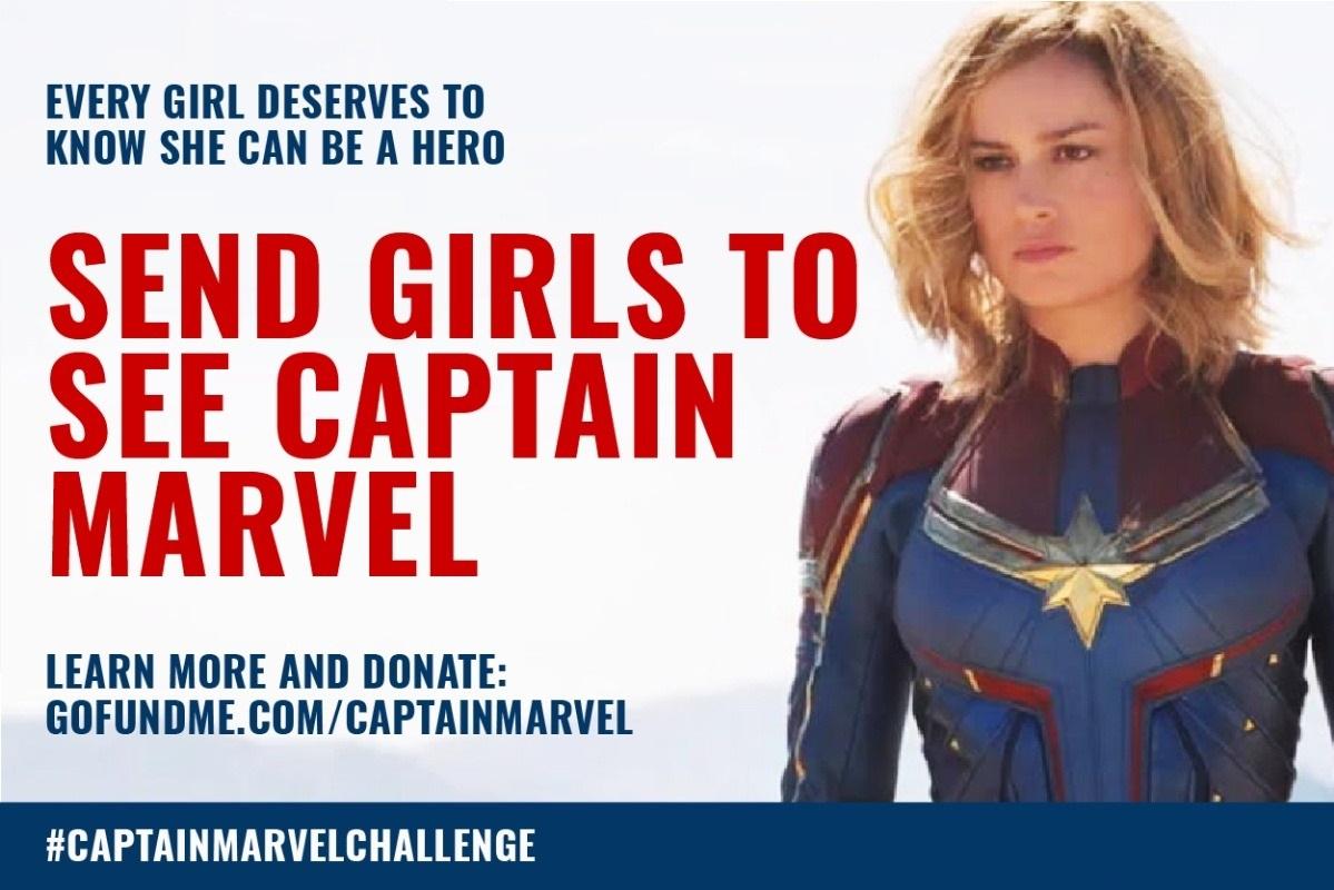 Send Girls To See Captain Marvel GoFundMe