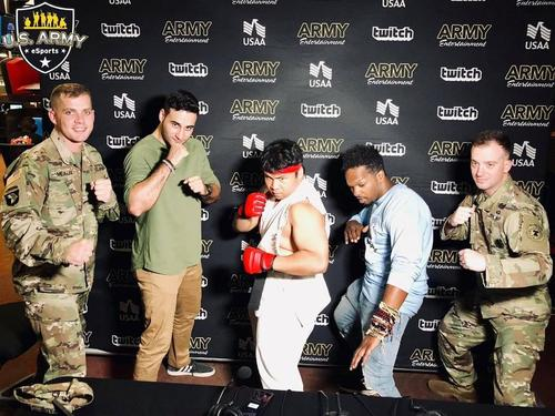 US Army Recruiters At Video Game Tournament