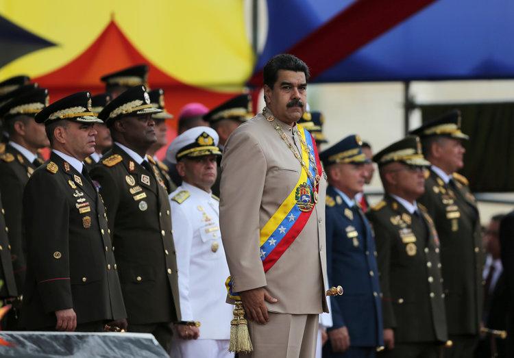 Venezuelan President Nicolas Maduro Military Parade