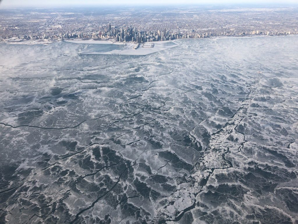 Chicago Lake Michigan Frozen Over 1