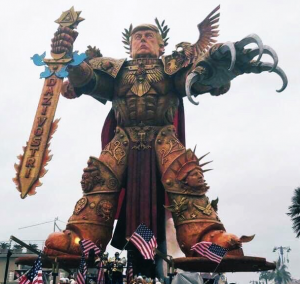 God Emperor Trump Float Italy