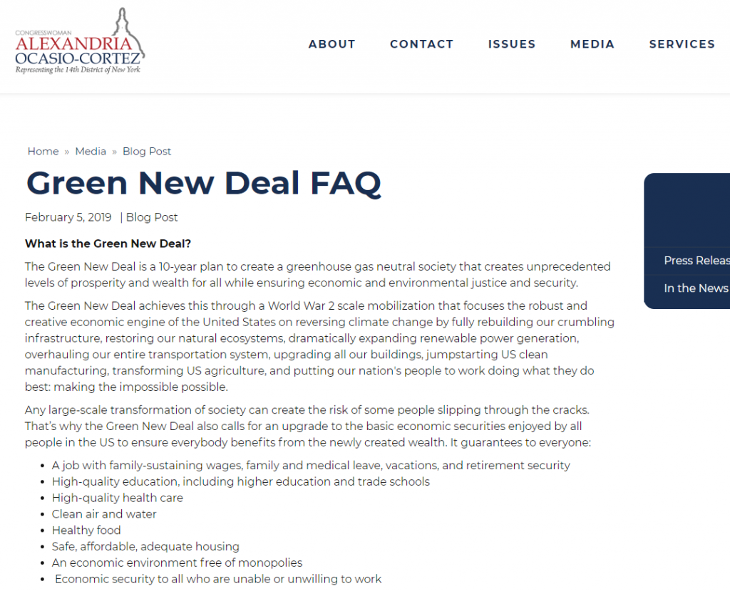Green New Deal FAQ Official Gov Website