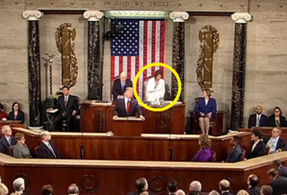 House Speaker Nancy Pelosi MK Ultra Glitch SOTU