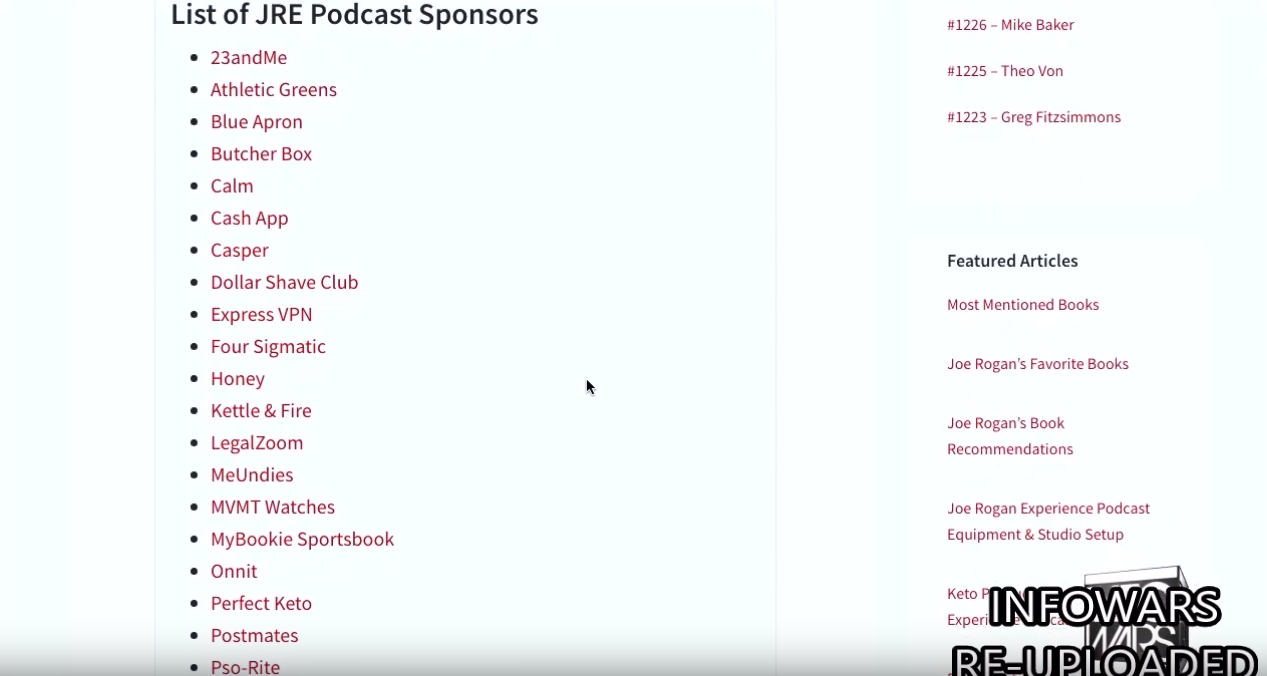 Joe Rogan EXPOSED: Popular Podcaster Is Secretly Funded By