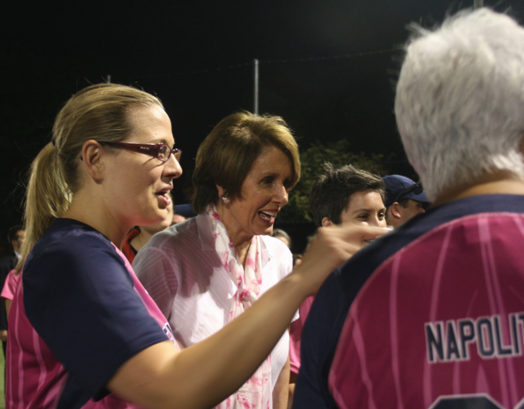 Nancy Pelosi Kyrsten Sinema Baseball Game