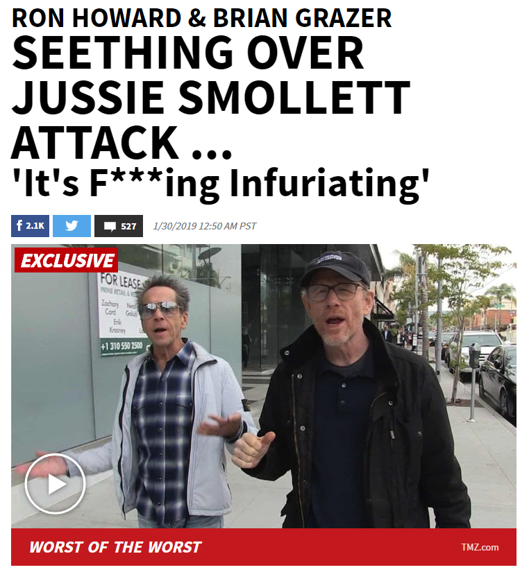 TMZ Ron Howard Brian Grazer Jussie Smollett Attack