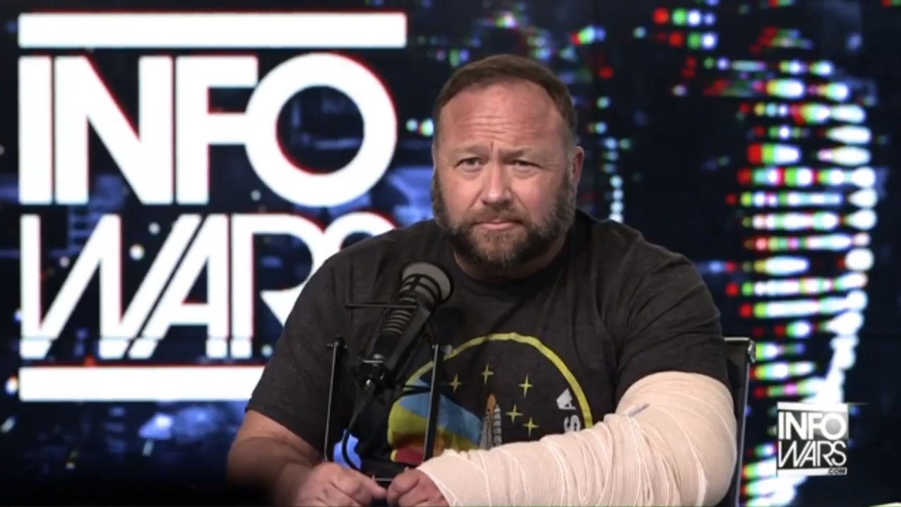Alex Jones Broken Arm 2
