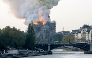France Notre Dame Cathedral Fire