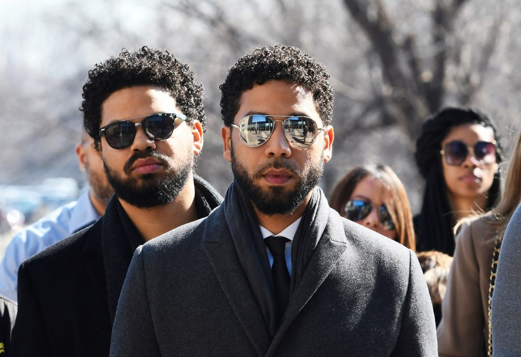 Jussie Smollett Wearing Really Cool Glasses