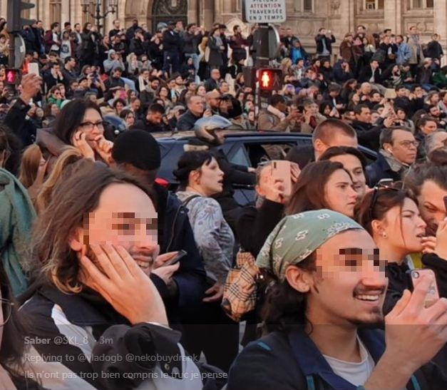Men Rejoice As Notre Dame Cathedral Burns 2_censored