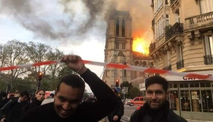 Men Rejoice As Notre Dame Cathedral Burns_censored