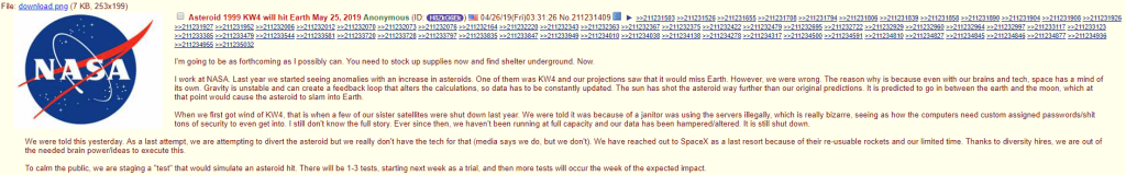 NASA Whistleblower Asteroid 1999 KW4 Will Hit Earth 05252019