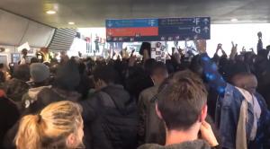 Paris France Migrant Protest At Airport
