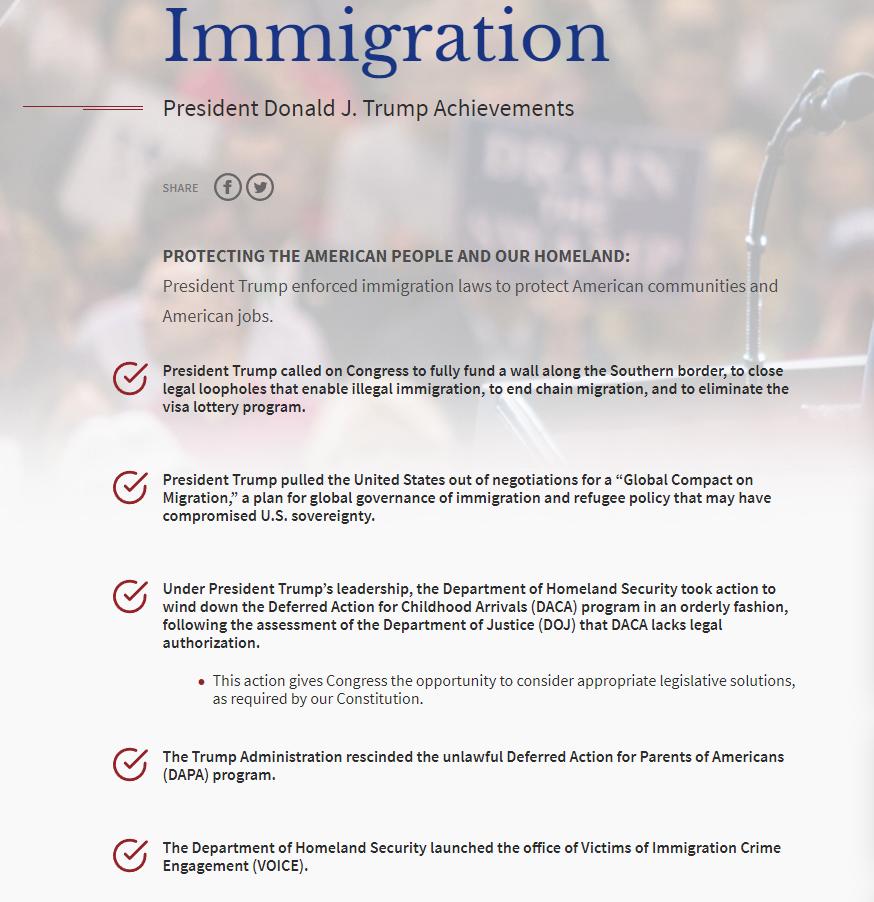 Trump's Immigration Reform Achievements