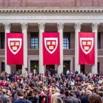 Students Of Harvard University Gather For Their Graduation Ceremony