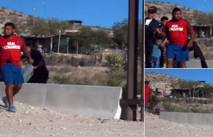 Armed Mexican Drug Cartel Member Escorts Illegal Aliens Border