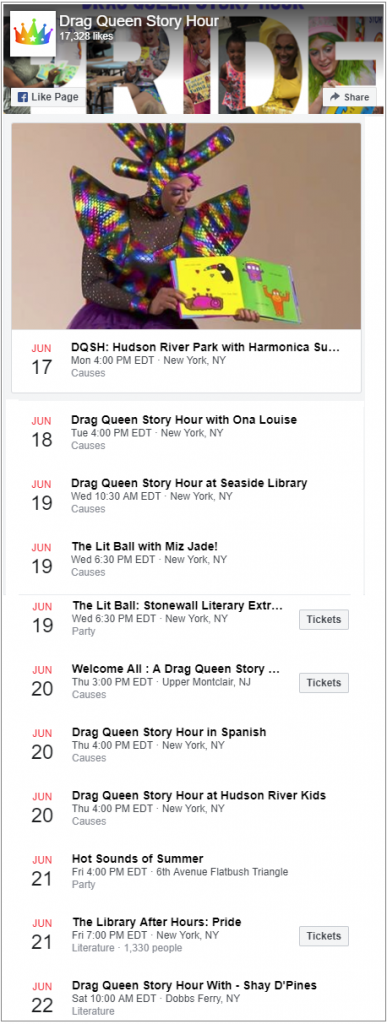 Drag Queen Story Hour Facebook
