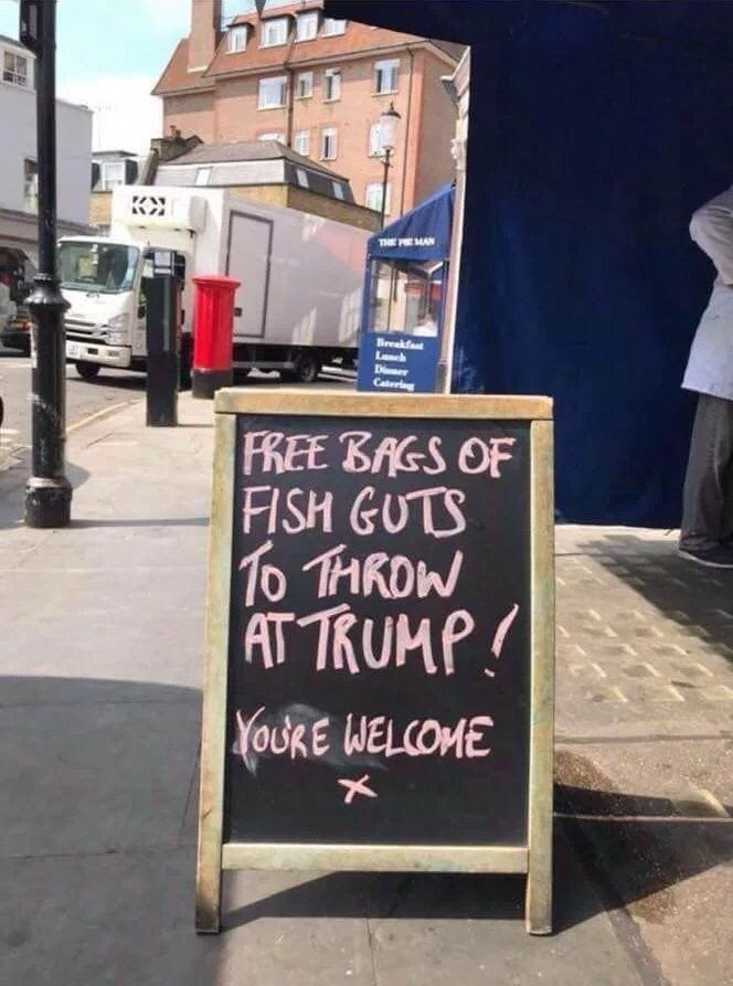 Free Bags Of Fish Guts To Throw At Trump