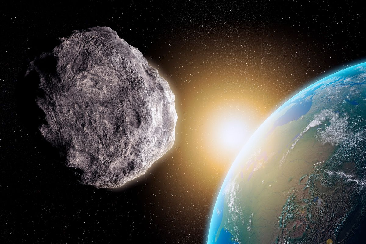Artist Rendition Asteroid Earth