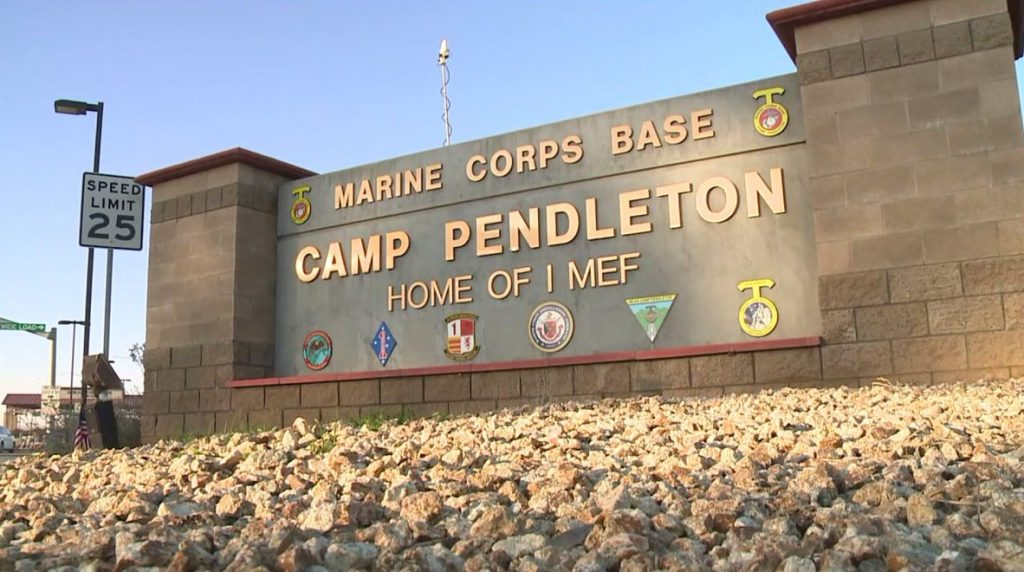 Mass Arrest US Marines Camp Pendleton California
