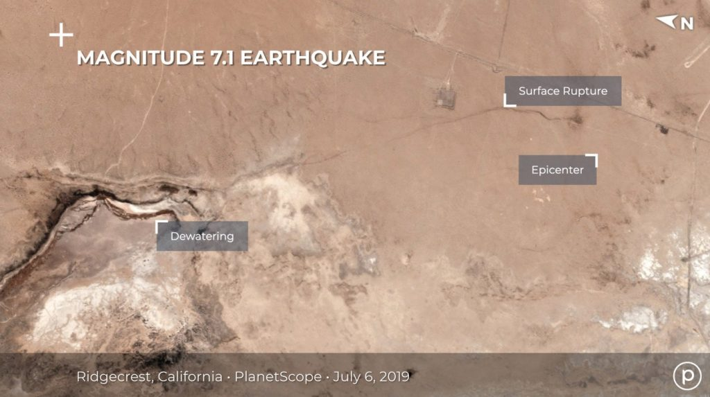 Ridgecrest California Earthquake Satellite View After